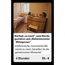 """Bier """"zuzweit"""",samt Bierdegustation und """"Weltenbunnler-Mittagessen"""""""
