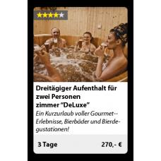 """Dreitägiger Aufenthalt für zwei Personen - zimmer """"Standard"""", inklusive Bierbad"""
